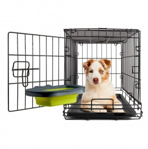 Dexas Collapsible Kennel Bowl Large - składana, silikonowa miska do klatki, fioletowa